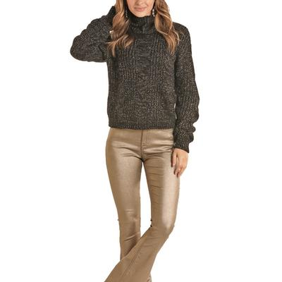 Rock&Roll Women's Knit Turtleneck Sweater