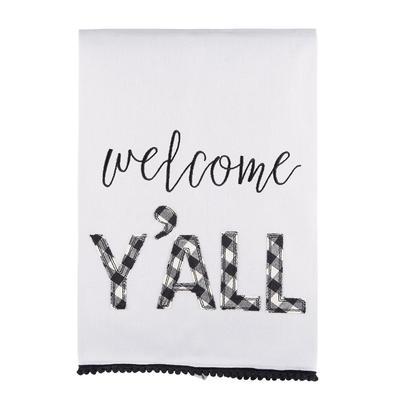 Welcome Y'all Tea Towel