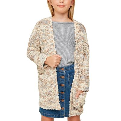 Hayden Girl's Textured Dolman Sleeved Cardigan