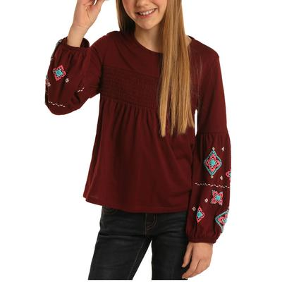 Rock&Roll Girl's Billow Sleeve Knit Top