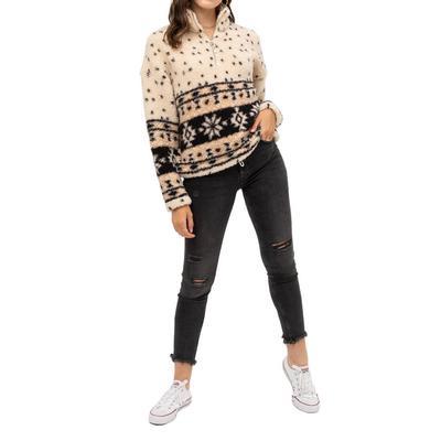 Love Tree Women's Aztec Sherpa Pullover