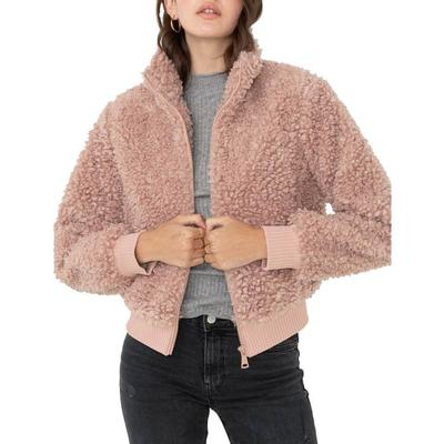 Love Tree Women's Fur Bomber Jacket