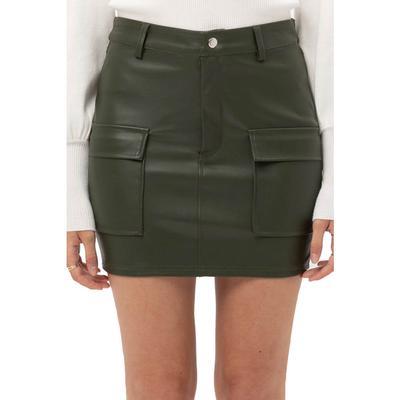 Love Tree Women's Faux Leather Mini Skirt