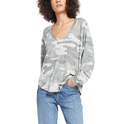 Z Supply Women's Plira Camo Slub Sweater