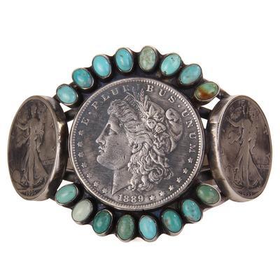 Sterling Silver Livingston 3 Coin Bracelet