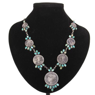 Sterling Silver Livingston Coin Necklace