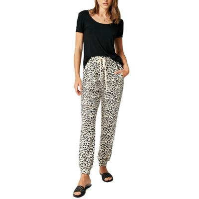 Hayden Women's Distressed Leopard Joggers