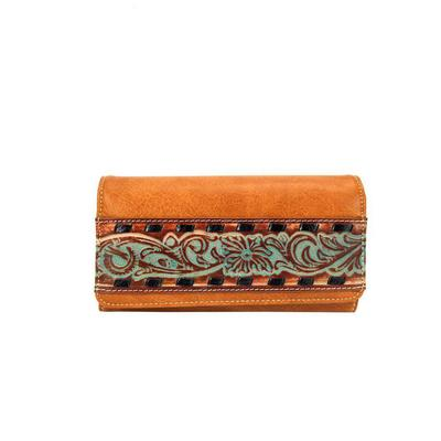 Trinity Ranch Tooled Wallet Wristlet