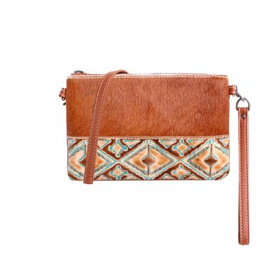Montana West Hair-On Hide Leather Crossbody Clutch