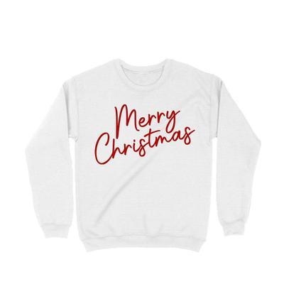 Women's White Merry Christmas Sweatshirt