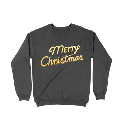 Women's Black Merry Christmas Sweatshirt