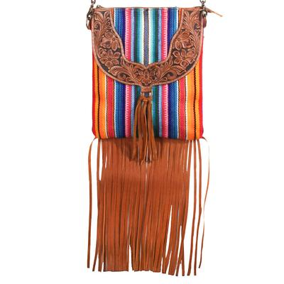 American Darling Tooled Rainbow Fringe Crossbody