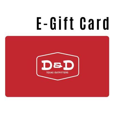 D&D E-GIFT CARD