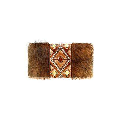Trinity Ranch Hair-On Hide Secretary Style Wallet