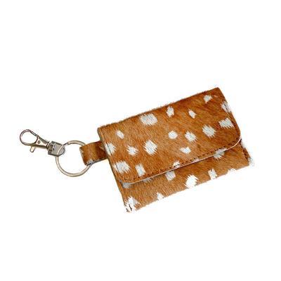 Deer Print Hide Keychain Wallet