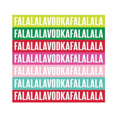 Falalala Vodka Holiday Napkins