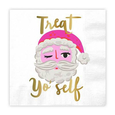 Santa Treat Yo Self Holiday Napkins