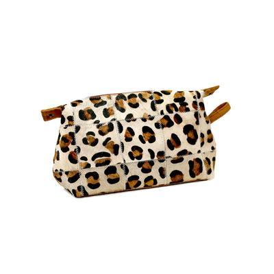Adeline Leopard Print Cosmetic Bag