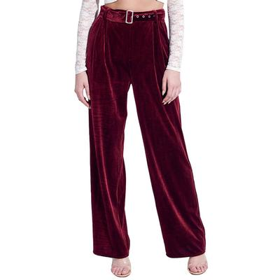 Women's Velvet Flare Pants