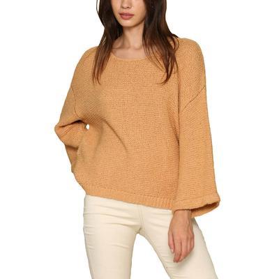 Women's Oversized Gold Knit Sweater