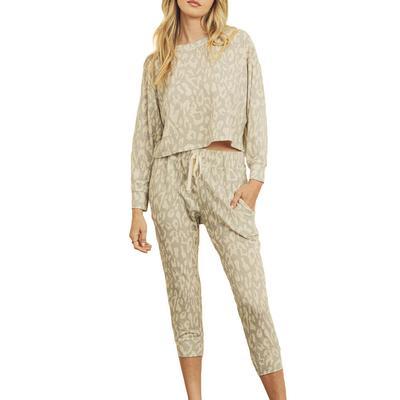 Women's Leopard Lounge Sweatsuit Set