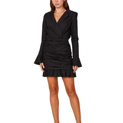Women's Black Bell Sleeve Dress