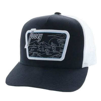 Hooey Men's Davis Black and White Trucker Cap