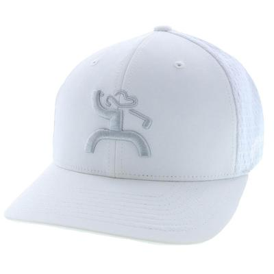 Hooey Men's White Mosaic Golf Flex Fit Cap 2.0