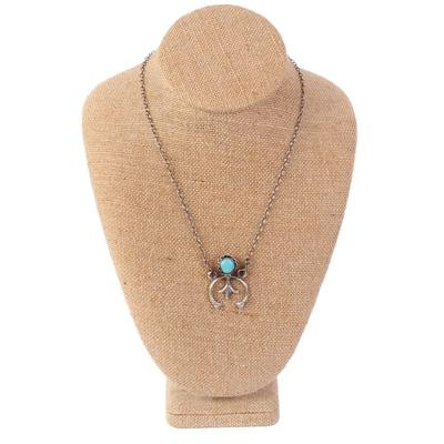Sterling Silver Turquoise Naja Chain Necklace