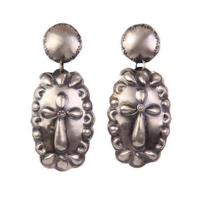 Women's Cross Concho Earrings