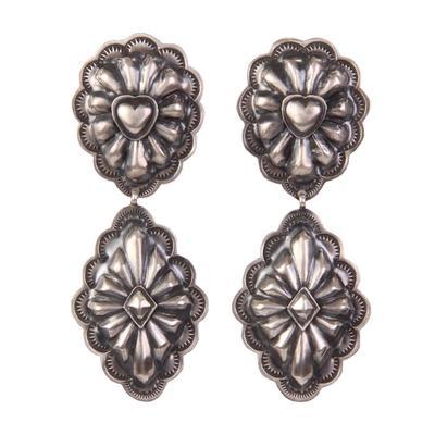 Women's Heart Concho Dangle Earrings