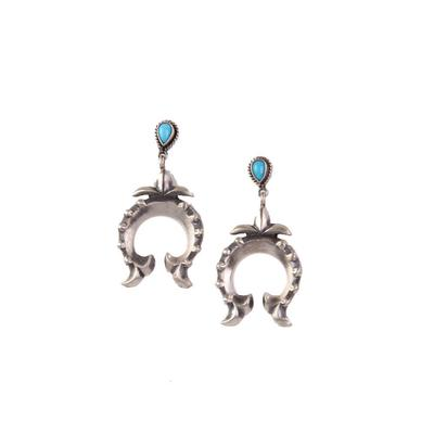Sterling Silver Turquoise Naja Earrings