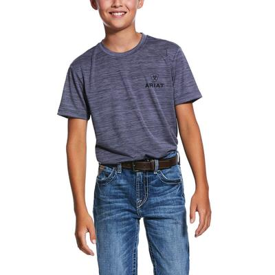 Ariat Boy's Grey Stone Charger T- Shirt
