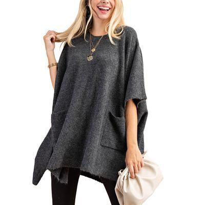 Kori Women's Crewneck Poncho Sweater
