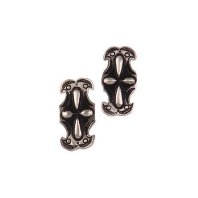 Sterling Silver Stamped Post Earrings