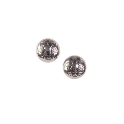Sterling Silver Sun Concho Stud Earrings