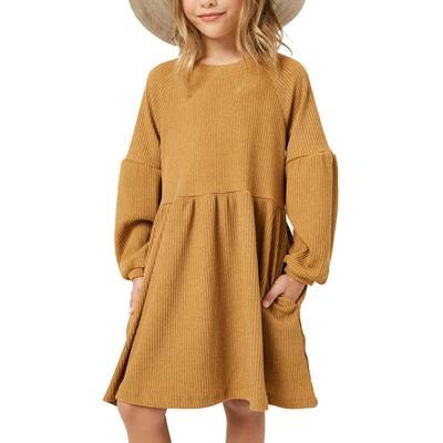 Hayden Girl's Ribbed Knit Raglan Tunic Dress