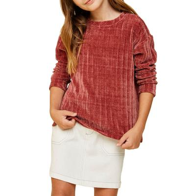 Hayden Girl's Corduroy Knit Sweater