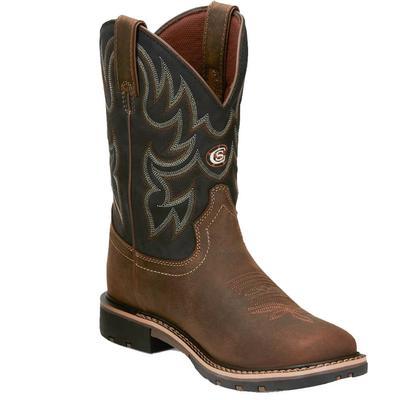 Justin Men's Tan Fireman Boots