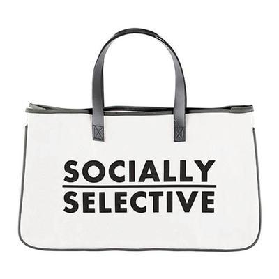 Socially Selective Canvas Tote