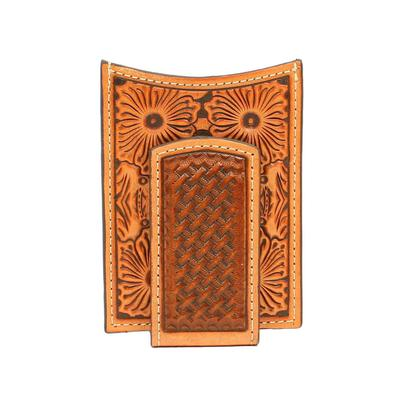 Men's M&F Embossed Pattern Money Clip