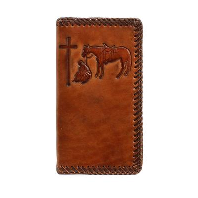 Men's M&F Cowboy Prayer Stamp Wallet