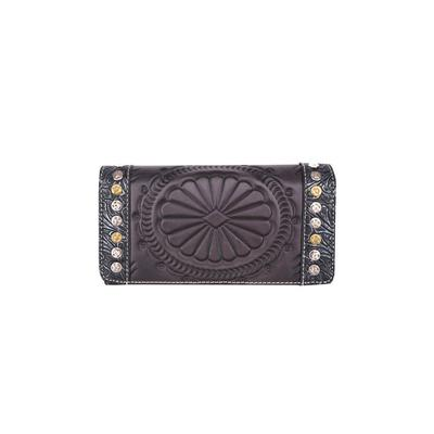Trinity Ranch Tooled Leather Secretary Style Wallet