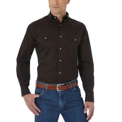 Wrangler Men's Black Painted Desert Twill Shirt