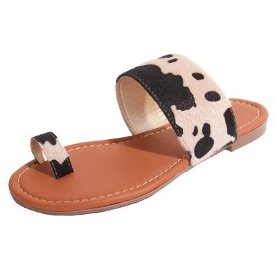 Women's Lulu Cow Print Sandals