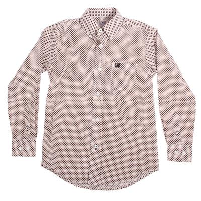 Cinch Boy's White Button Down Shirt