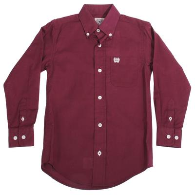 Cinch Boy's Purple Button Down Shirt