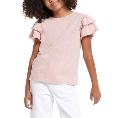 Z Supply Girl's Lila Ruffle Sleeve Top