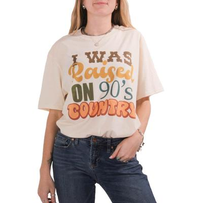 Gina Tees Women's Raised on 90s Country T-Shirt