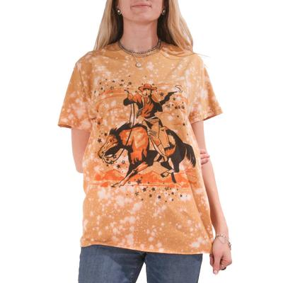 Gina Tees Women's Star Cowboy T-Shirt